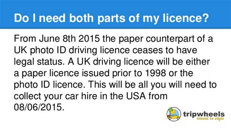 Driving Licence Requirements For Hiring A Car In The Usa