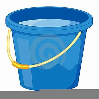 Bucket Water Clipart Pail Clip Cartoon Vector