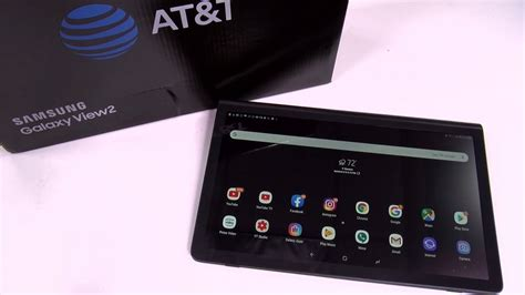 samsung galaxy view 2 inch android tablet youtube