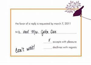 How to fill out a rsvp wedding invitation mind your formal for Wedding rsvp cards filled out