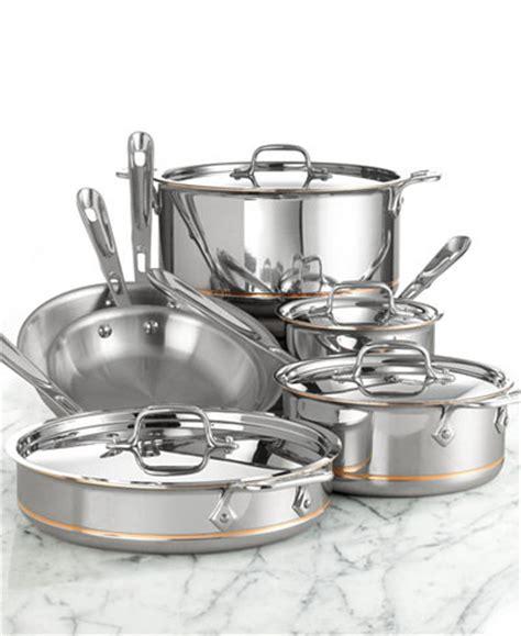 clad copper core  pc cookware set cookware kitchen macys