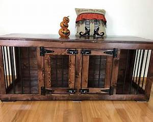 Dog crate furniture etsy for Xl dog crate furniture