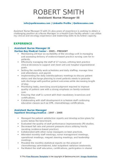 Resume For Assistant Manager Position by Assistant Manager Description