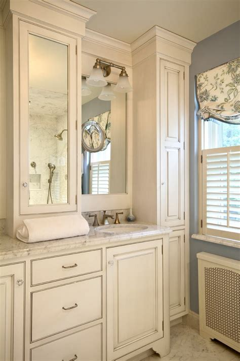 bathroom cabinetry ideas splashy linen cabinet look philadelphia traditional