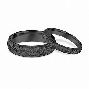 hand engraved matching wedding bands his and hers wedding With matching wedding rings for husband and wife