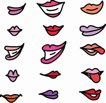 Clipart Lips Girly Lip Nose Transparent Svg