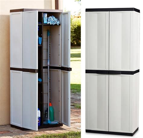Plastic Storage Cabinets With Doors by Large Storage Cabinet Garden Garage House Shed Patio
