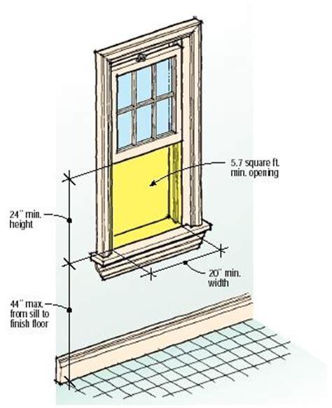 qa upstairs window egress rules jlc
