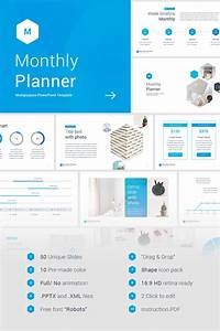 Monthly Planner Powerpoint Template  66054