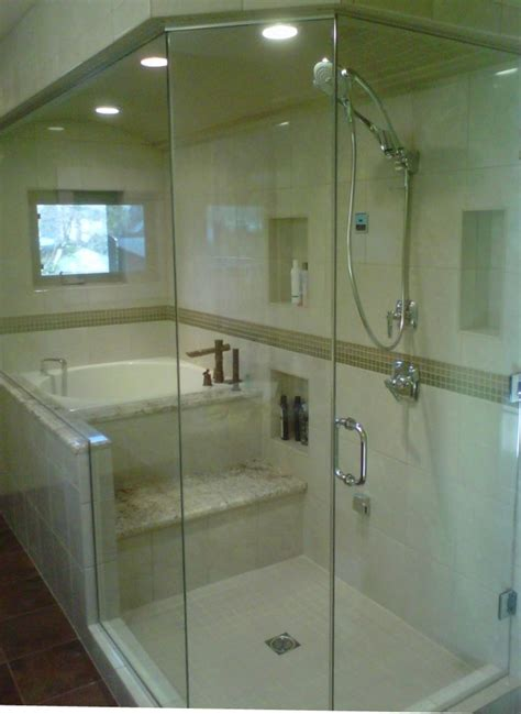 soaking tub shower combo bathroom contemporary with alcove