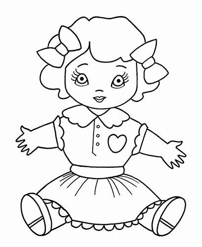 Coloring Toys Christmas Pages Doll Toy Dolly
