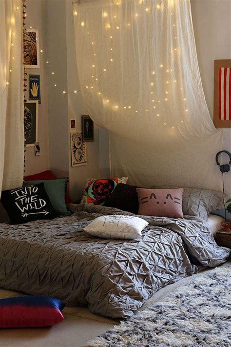 hang string teen room bed lights homemydesign
