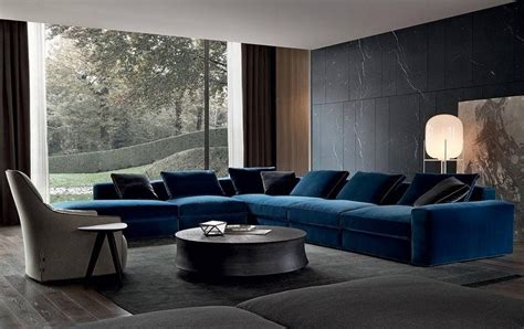 Living Room With Leather Sectional by Canap 233 Tendance Canap 233 Show