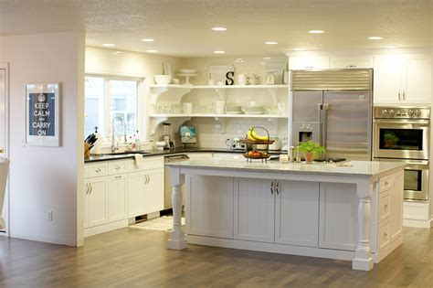 kitchen island open shelves kitchen with open shelves and island storage options 5119