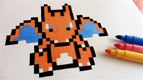 handmade pixel art   draw charizard pixelart youtube