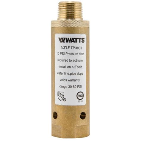 0121238 watts 0121238 1 2 quot lftp300t flow through trap primer lead free threaded