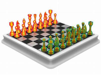 Chess Pieces Queen Thermal Mensen Thermische Stukken