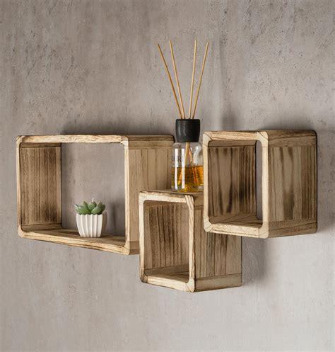 cube regal holz wandregal 3er set cube regal holz natur 16cm 21cm w 252 rfelregal kaufen bei living by design
