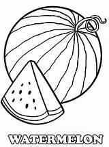 Coloring Watermelon Slice Fruit Printable Fresh Sheets Worksheets Kidsplaycolor sketch template
