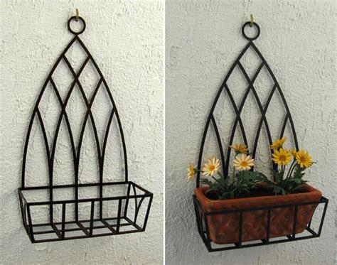 porta vasi in ferro porta vasi da parete cerca con hierro hierro