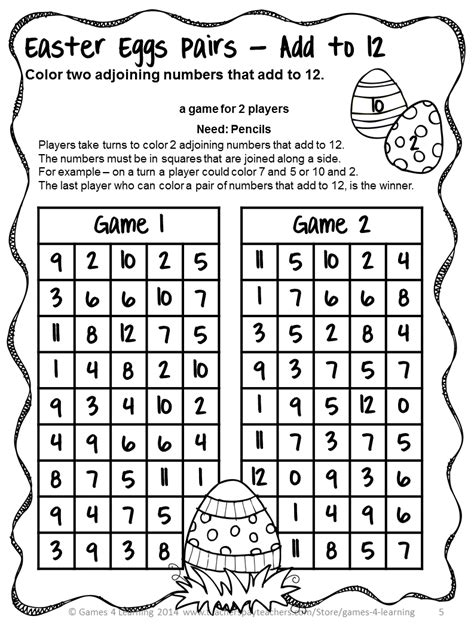 4 learning easter math no prep