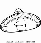Sombrero Coloring Hat Clipart Mexican Illustration Royalty Printable Getdrawings Cory Thoman Getcolorings sketch template