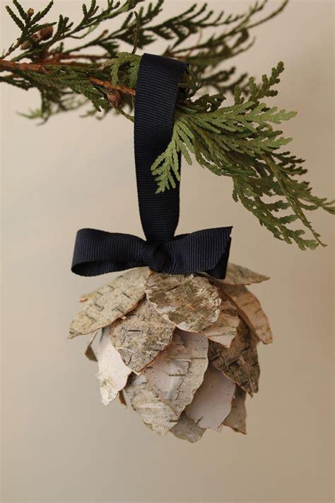 birch bark pinecone ornament turtles  tails blog