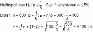 Sigma Berechnen : hypothesentest ein einfacher zugang mit w rfeln mathe brinkmann ~ Themetempest.com Abrechnung