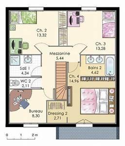 1000 idees sur le theme plan maison etage sur pinterest With plan maison 2 niveaux 0 maison de ville econome detail du plan de maison de