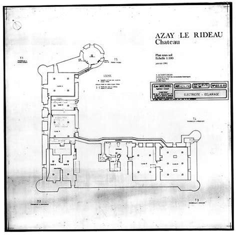 chateau d azay le rideau plan of basement architectural