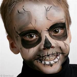 Maquillage Halloween Garçon : maquillage squelette enfant ~ Melissatoandfro.com Idées de Décoration