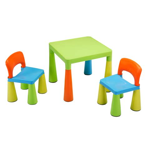 set table et chaises children s multi coloured table chairs set