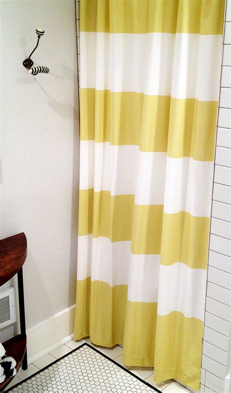yellow striped shower curtain furniture ideas