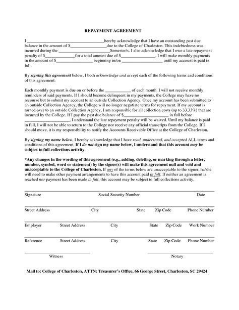 loan repayment agreement letter ichwobbledichcom