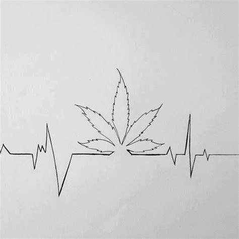 ekg weed tattoo szukaj  google  dziary pinterest