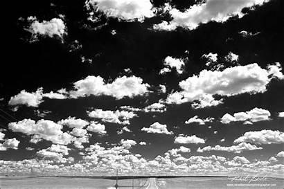 Sky Clouds Nature Template Blackwhite