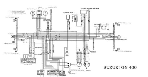 Grizzly 600 Wiring Diagram Coil by Suzuki Gn400 Electrical Wiring Diagram All About Wiring