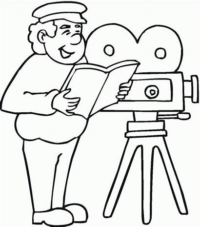 Coloring Director Pages Film Occupations Colouring Jobs