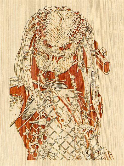 laser engraving ideas predator template  vector cdr