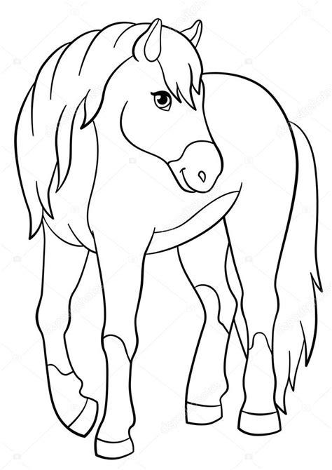 Dieren Kleurplaten Paarden by Kleurplaten Boerderijdieren Leuk Paard Stockvector