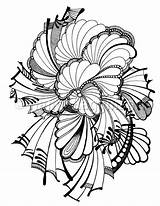 Coloring Printable Abstract Feather Etsy sketch template