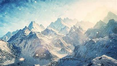 Snowy Mountains Mountain Wallpapers Winter Cave Engine