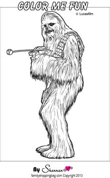 chewbacca color page star wars coloring pages
