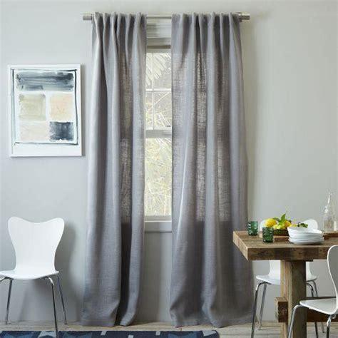 burlap curtain platinum west elm