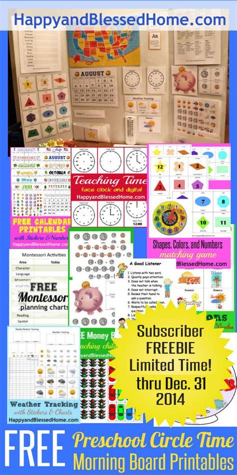 free preschool circle time morning board printables free 474 | FREE Preschool Circle Time Morning Board Printables FREE till Dec 31 2014 HappyandBlessedHome.com 1