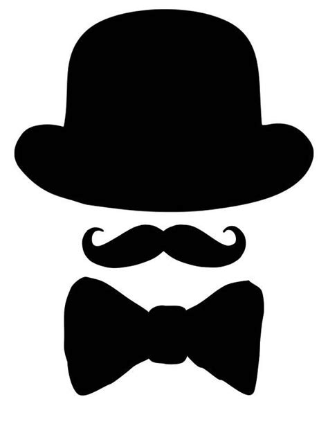 printable bow tie printable mustache printable black hat bow tie cut outs bow tie baby