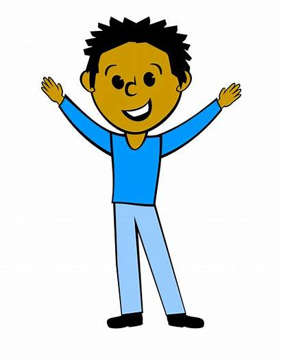 Person Clip Clipart Young Happy Cliparts Arms