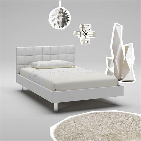 lit ado blanc avec t 234 te de lit rembourr 233 e compact so nuit