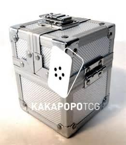 metal tcg deck box for mtg yugioh pokemon wow by kakapopotcg