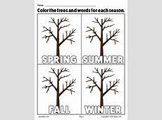 The 4 Seasons FREE Printable Coloring Page Worksheets